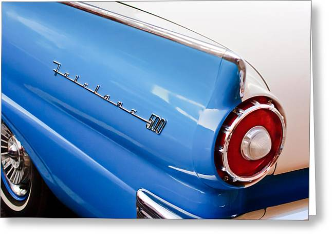 Fairlane Greeting Cards - 1957 Ford Fairlane Taillight Emblem Greeting Card by Jill Reger
