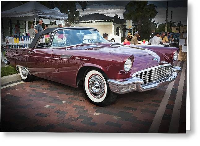 1957 Ford Thunderbird Convertible  Greeting Card by Rich Franco