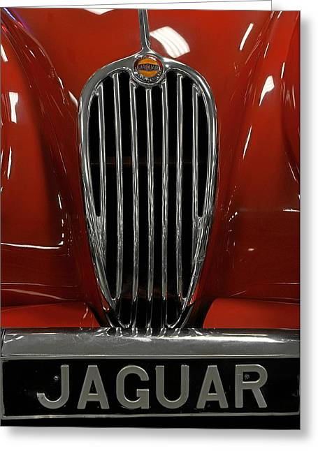 1957 Jaguar Xk 140 Mc Greeting Card by Keith Gondron