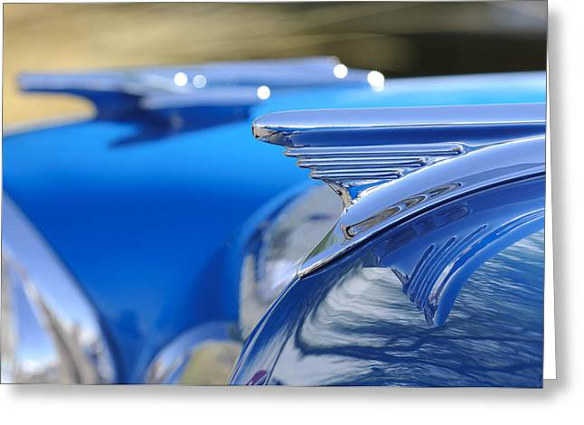 1957 Oldsmobile Hood Ornament 3 Greeting Card by Jill Reger