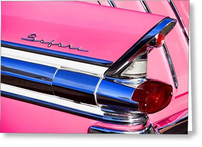 1957 Pontiac Safari Two-Door Wagon Greeting Card by Carol Leigh