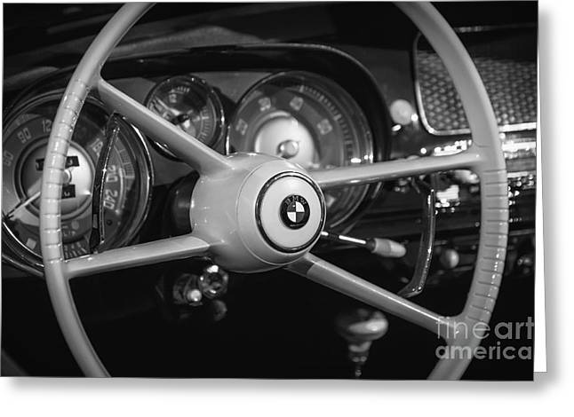Recently Sold -  - Steering Greeting Cards - 1958 Bmw 507 Greeting Card by Dennis Hedberg
