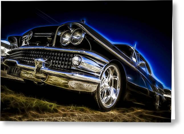 Phil Motography Clark Greeting Cards - 1958 Buick Century Greeting Card by motography aka Phil Clark
