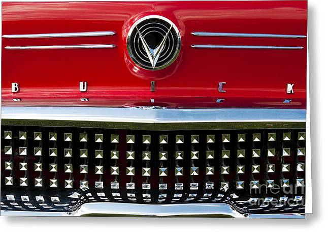 Custom Grill Greeting Cards - 1958 Buick Special Car Greeting Card by Tim Gainey