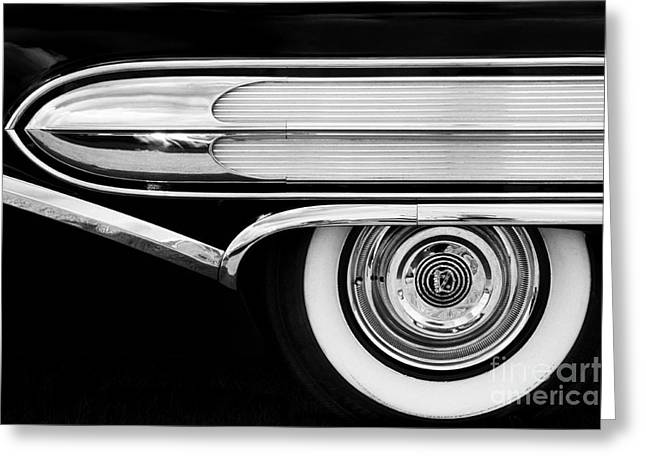 General Motors Company Greeting Cards - 1958 Buick Special Monochrome Greeting Card by Tim Gainey