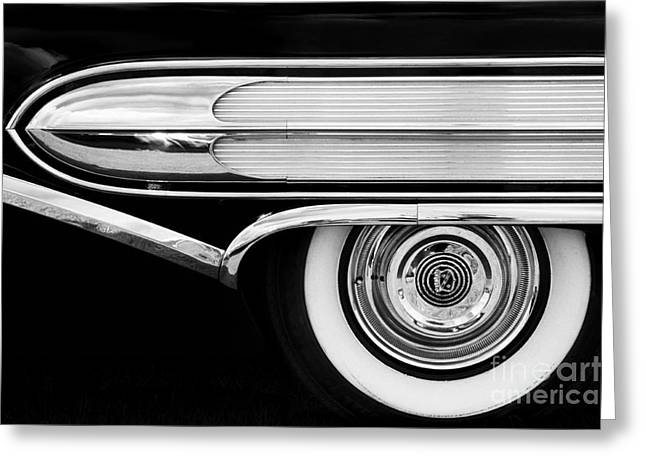 Monochrome Hot Rod Greeting Cards - 1958 Buick Special Monochrome Greeting Card by Tim Gainey