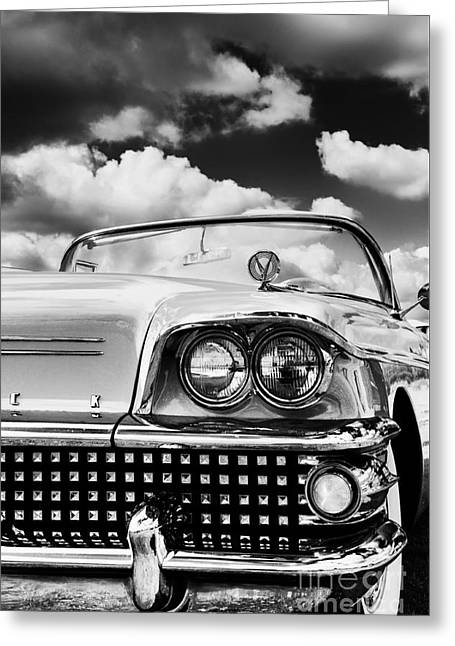 Headlight Greeting Cards - 1958 Buick Special  Greeting Card by Tim Gainey