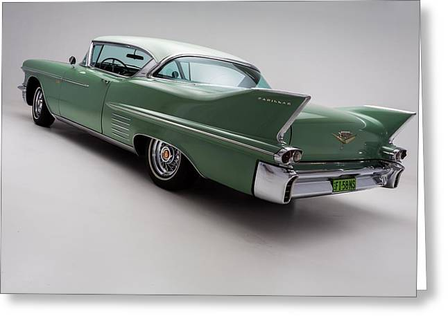 Caddy Greeting Cards - 1958 Cadillac DeVille Greeting Card by Gianfranco Weiss