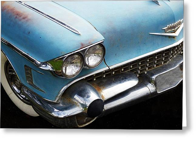 Smooth Ride Greeting Cards - 1958 Cadillac Sedan deVille Greeting Card by Pamela Patch