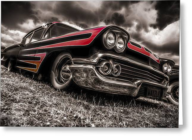 Aotearoa Greeting Cards - 1958 Chev Biscayne Greeting Card by motography aka Phil Clark