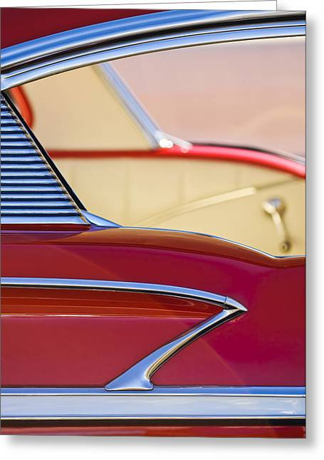 1958 Chevrolet Belair Abstract Greeting Card by Jill Reger