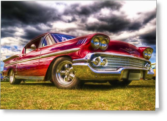 Motography Photographs Greeting Cards - 1958 Chevrolet Impala Greeting Card by Phil