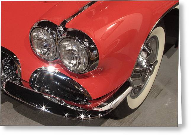 Sink Hole Greeting Cards - 1958 Corvette Greeting Card by Dwight Cook