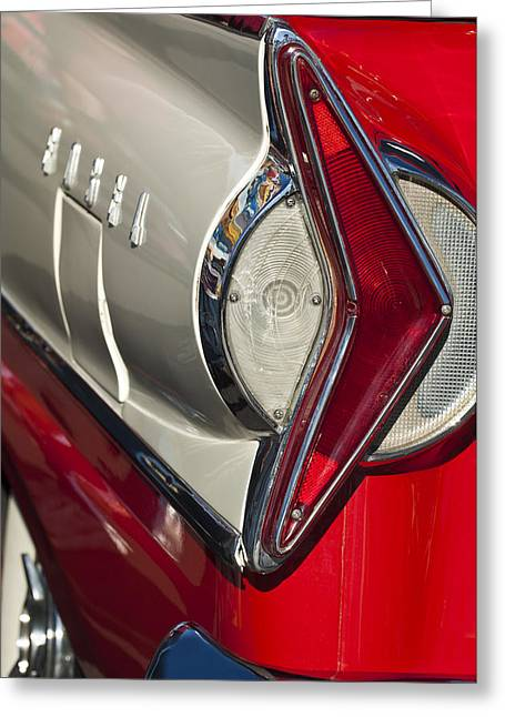 Car Part Greeting Cards - 1958 Edsel Wagon Tail Light Greeting Card by Jill Reger