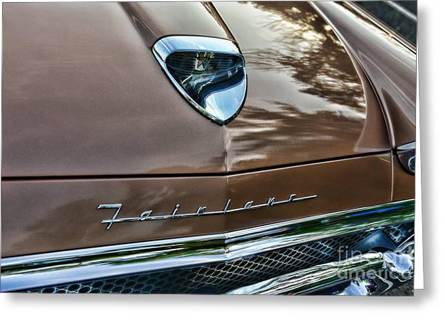 I Hate Greeting Cards - 1958 Ford Fairlane 500 Skyliner Greeting Card by Paul Ward