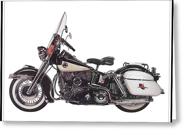 Pleasure Driving Greeting Cards - 1958 Harley-Davidson FLH Duo-Glide Greeting Card by Maciej Froncisz