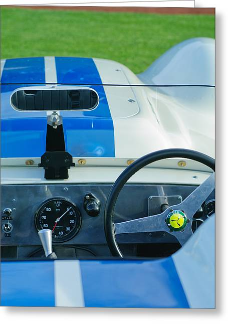 Knobbly Greeting Cards - 1958 Lister Jaguar Knobbly Greeting Card by Jill Reger