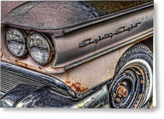 Rusted Cars Greeting Cards - 1958 Oldsmobile 88 Greeting Card by Ken Smith