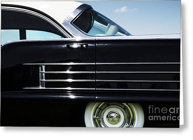 Side Panel Greeting Cards - 1958 Oldsmobile Dynamic 88 Greeting Card by Tim Gainey