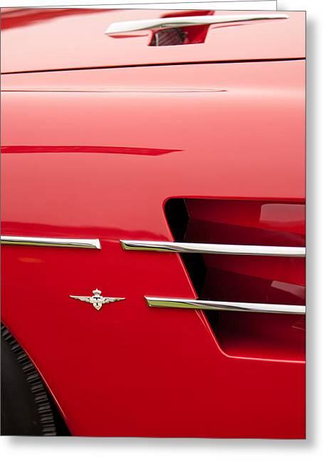 Z Greeting Cards - 1958 Pegaso Z-103 Touring Berlinetta Side Emblem -1195c Greeting Card by Jill Reger
