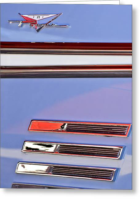 Bonneville Pictures Greeting Cards - 1958 Pontiac Bonneville Emblem Greeting Card by Jill Reger