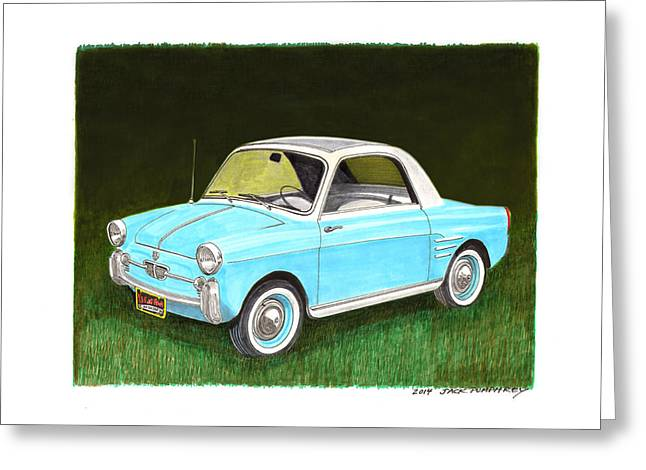 Third-oldest Greeting Cards - 1959 Autobianchi Bianchina Greeting Card by Jack Pumphrey