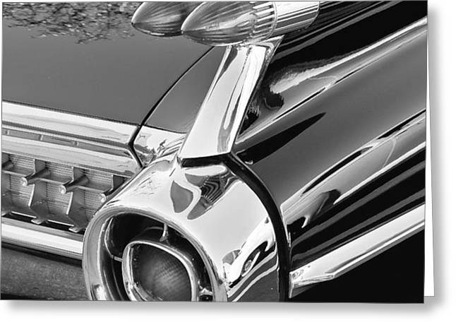 1959 Black and White Caddy Greeting Card by Rich Franco
