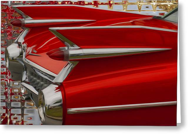 Car Mascot Digital Art Greeting Cards - 1959 Cadillac Greeting Card by Jack Zulli