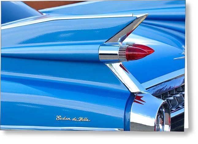 1959 Cadillac Sedan De Ville Taillight Greeting Card by Jill Reger