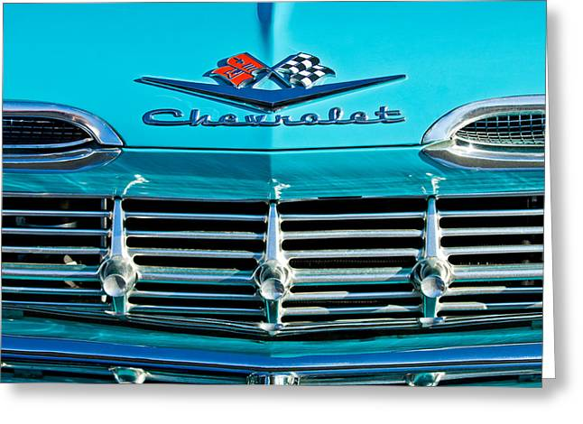 1959 Chevrolet Greeting Cards - 1959 Chevrolet Impala Grille Greeting Card by Jill Reger