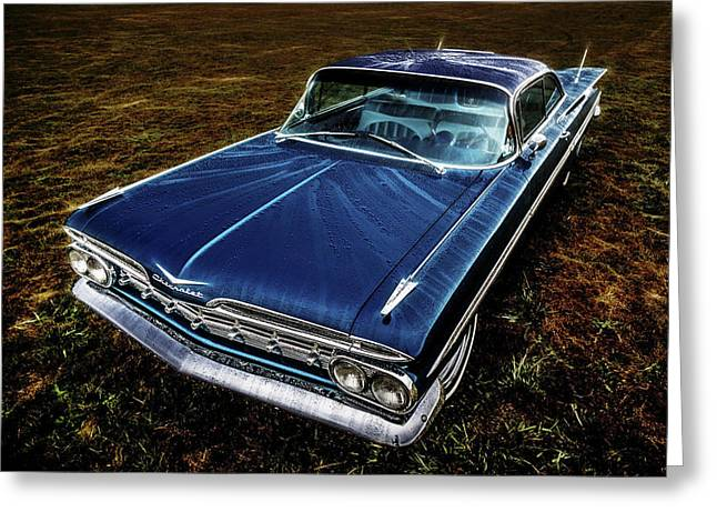 Phil Motography Clark Photographs Greeting Cards - 1959 Chevrolet Impala Greeting Card by motography aka Phil Clark
