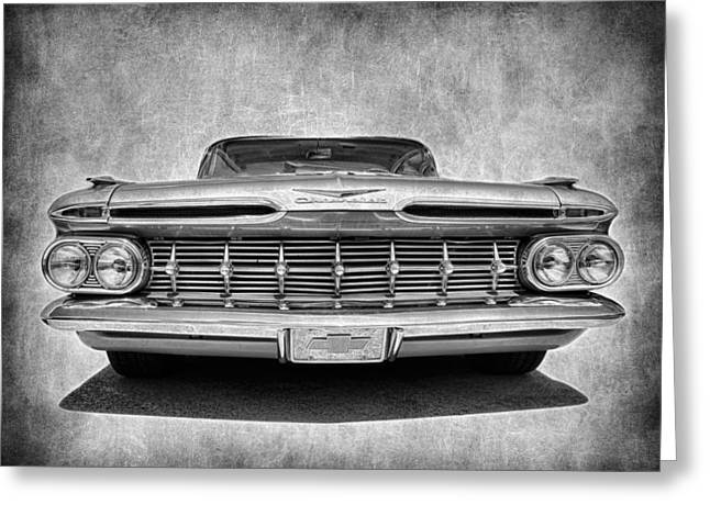 Fleetmaster Greeting Cards - 1959 Chevrolet Impala Greeting Card by Steve McKinzie