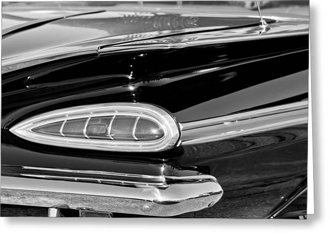 1959 Chevrolet Greeting Cards - 1959 Chevrolet Impala Tail Light Greeting Card by Jill Reger