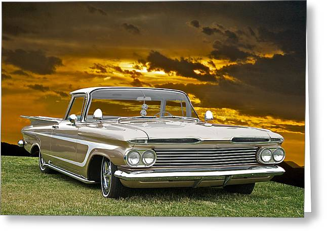 Slam Photographs Greeting Cards - 1959 Custom El Camino Greeting Card by Dave Koontz