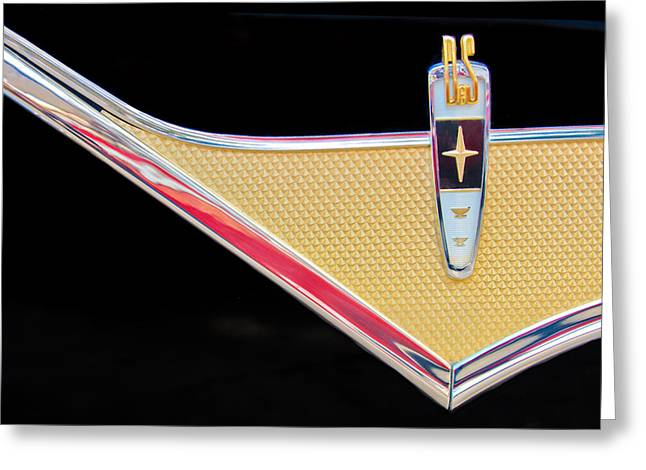 Pebble Beach Car Show Greeting Cards - 1959 DeSoto Adventurer Emblem Greeting Card by Jill Reger