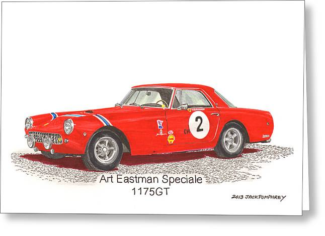 Because Greeting Cards - 1959 Ferrari 250 P F Coupe Greeting Card by Jack Pumphrey