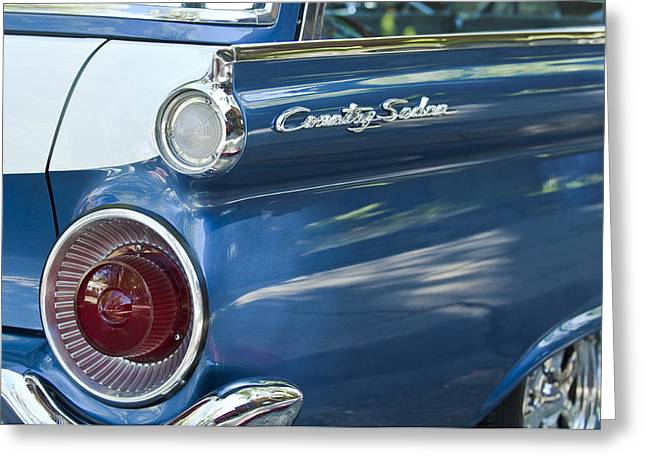 Tail Light Greeting Cards - 1959 Ford Country Sedan Tail Light Greeting Card by Jill Reger