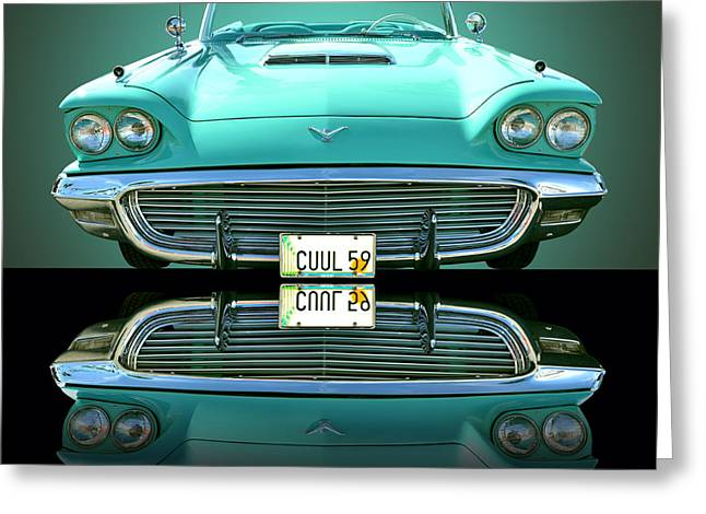 Thunderbird Greeting Cards - 1959 Ford T Bird Greeting Card by Jim Carrell