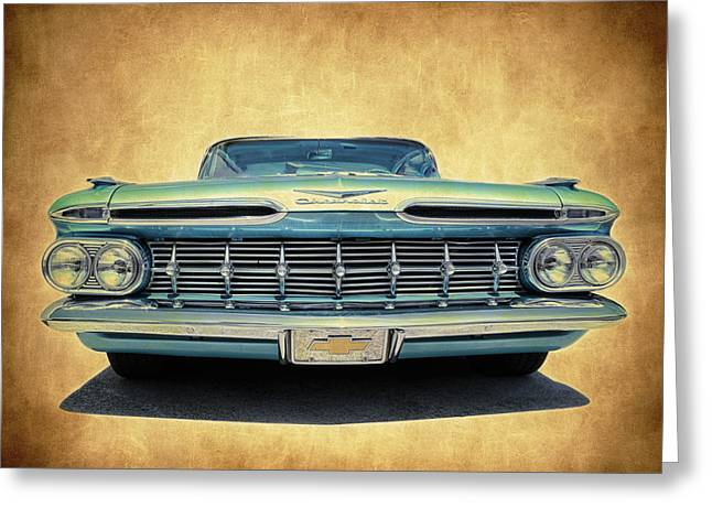 Fleetmaster Greeting Cards - 1959 Impala Greeting Card by Steve McKinzie