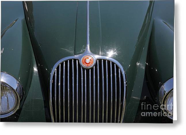 1959 Jaguar XK150 DHC 5D23301 Greeting Card by Wingsdomain Art and Photography