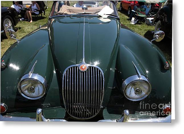 Brit Greeting Cards - 1959 Jaguar XK150 DHC 5D23302 Greeting Card by Wingsdomain Art and Photography