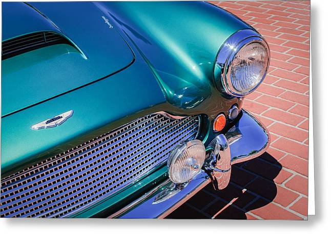 1960 Aston Martin DB4 Series II Grille Greeting Card by Jill Reger