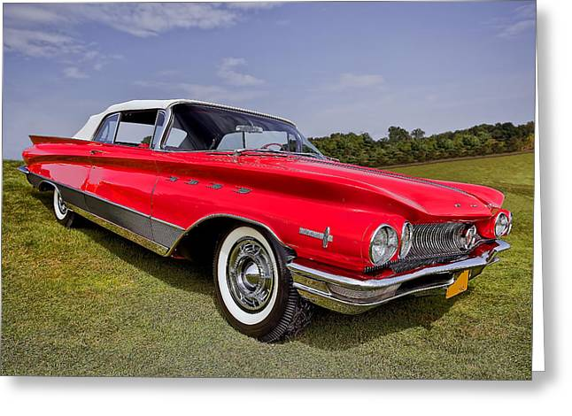 Fancy-full Greeting Cards - 1960 Buick Electra 225 Greeting Card by Marcia Colelli