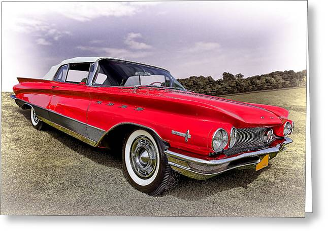 Fancy-full Greeting Cards - 1960 Buick Electra Greeting Card by Marcia Colelli