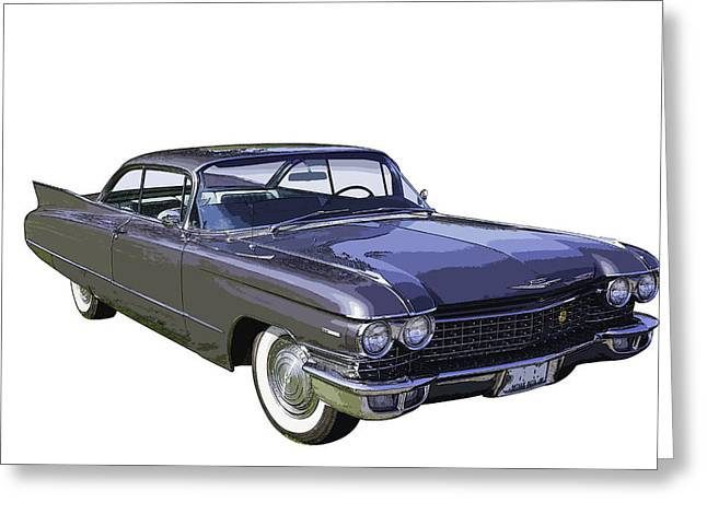 Old Auto Greeting Cards - 1960 Cadillac - Classic Luxury Car Greeting Card by Keith Webber Jr