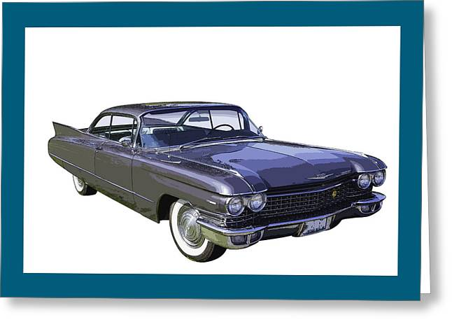 Timer Greeting Cards - 1960 Cadillac - Classic Luxury Car Greeting Card by Keith Webber Jr
