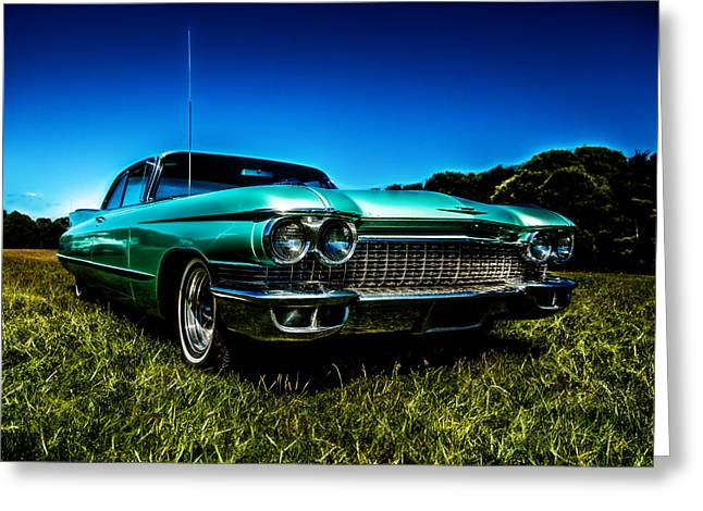 Phil Motography Clark Photographs Greeting Cards - 1960 Cadillac Coupe De Ville Greeting Card by motography aka Phil Clark