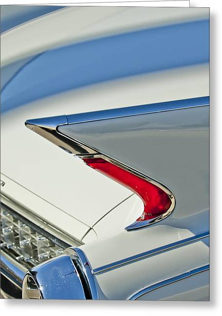 Caddy Greeting Cards - 1960 Cadillac Eldorado Biarritz Convertible Taillight Greeting Card by Jill Reger