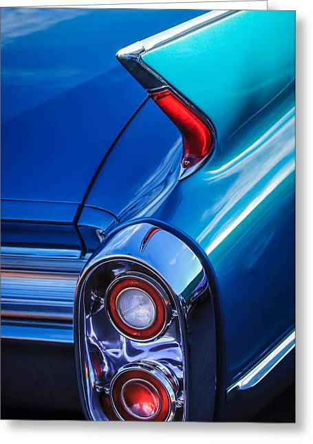 1960 Greeting Cards - 1960 Cadillac Series 62 Convertible Taillight -1040c Greeting Card by Jill Reger