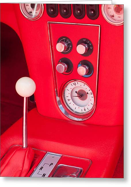 Controlled Greeting Cards - 1960 Chevrolet Corvette Control Panel Greeting Card by Jill Reger